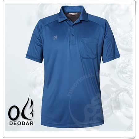 【DEODAR】美國杜邦 Coolmax 男 科技短袖POLO衫(永久型原紗布)涼感抗菌抗臭 /深灰藍 11900221-59