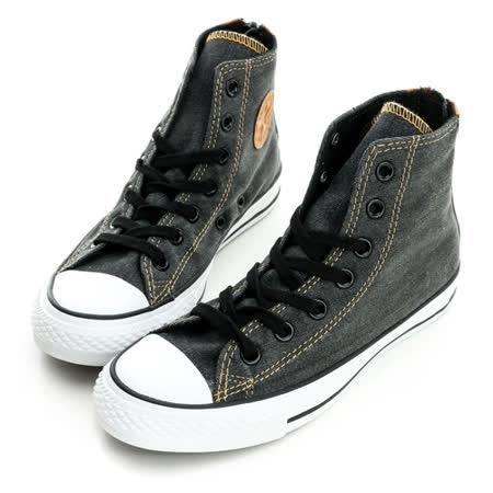 CONVERSE(男/女)丹寧牛仔帆布鞋(高統)-深灰-147914C