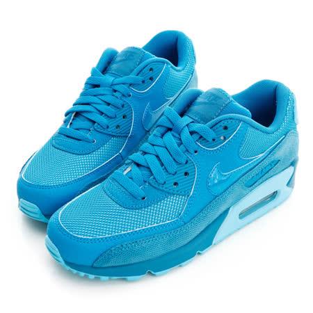 NIKE(女)WMNS AIR MAX 90 PRM 慢跑鞋-藍-443817101