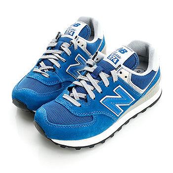 New Balance(男/女)經典慢跑鞋-藍-ML574VTR