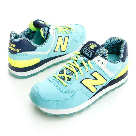 New Balance(女)經典慢跑鞋-亮藍-WL574ILA