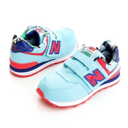 New Balance(童)慢跑鞋-藍-KV574TLY