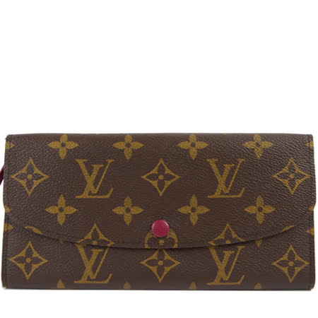 Louis Vuitton M60697 EMILIE新款扣式拉鍊零錢長夾.紅_預購