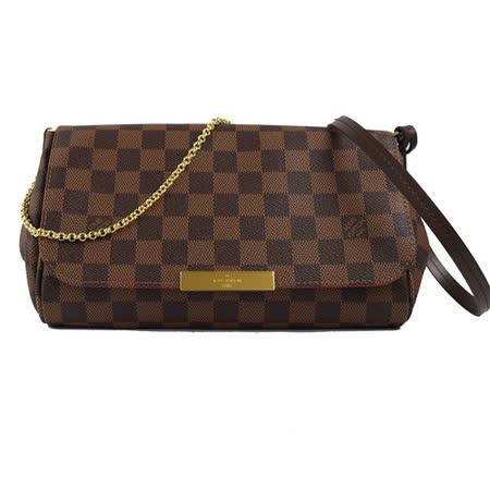 Louis Vuitton LV N41129  Favorite MM 棋盤格紋鍊條肩背包(附皮革背帶)_預購