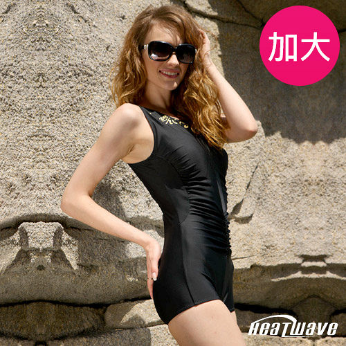 新光 三越 百貨 公司【Heatwave熱浪】金柔曲線 加大萊克連身裙泳裝-81741
