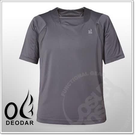【DEODAR】動感網狀透氣椰炭紗男圓領衫.抗UV / 鐵灰 21A00188-98 B