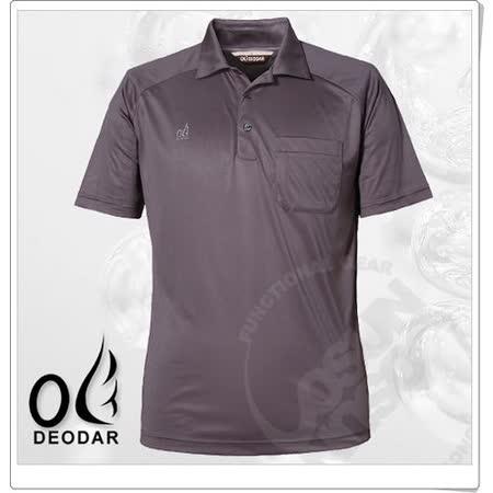 【DEODAR】美國杜邦 Coolmax 男 科技短袖POLO衫.涼感抗菌抗臭.抗UV /鐵灰 11900221-98