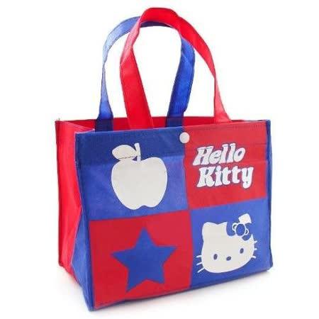 【HELLO KITTY】凱蒂貓雙色購物袋手提袋萬用袋