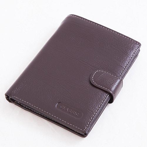 ABS愛中港 愛 買貝斯 護照夾 直式真皮 2活頁8卡雙層鈔票層拉鍊隔層零錢層(咖)7070-025