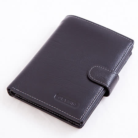 ABS愛貝斯 護照夾 直式真皮 2活頁8卡雙層鈔票層拉鍊隔層零錢層(黑)7070-026