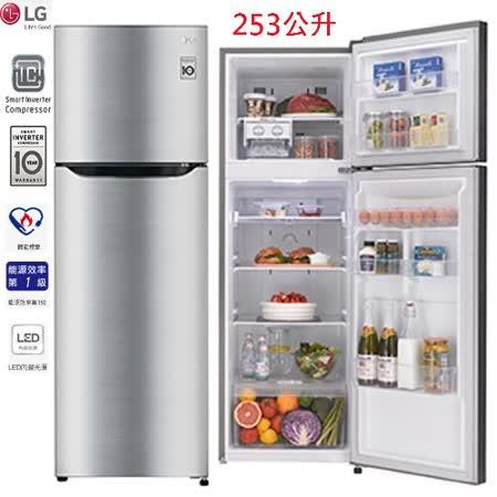 LG 樂金 253公升變頻上下門冰箱精緻銀( GN-L305SV )  送基本安裝
