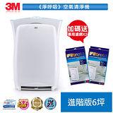 3M 淨呼吸超濾淨型空氣清淨機 進階版-適用6坪+專用濾網2入