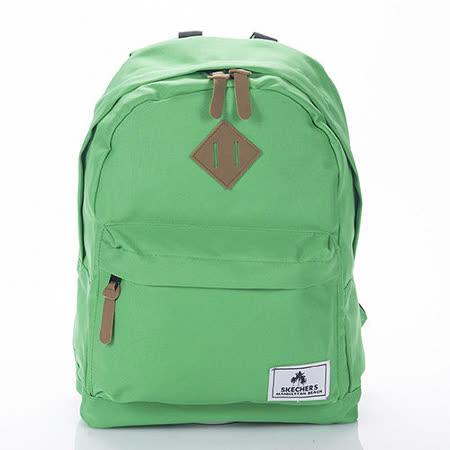 SKECHERS Backpack solid 綠色後背包-7460118