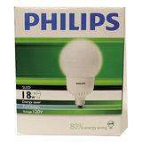 ★2件超值組★飛利浦 電子式球型省電燈泡-白光(18W)