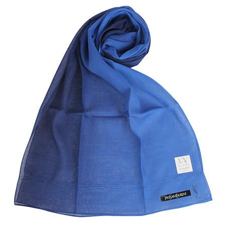 【網購】gohappy 線上快樂購YSL 優雅素面漸層薄棉抗UV圍巾-深藍色評價怎樣漢 神