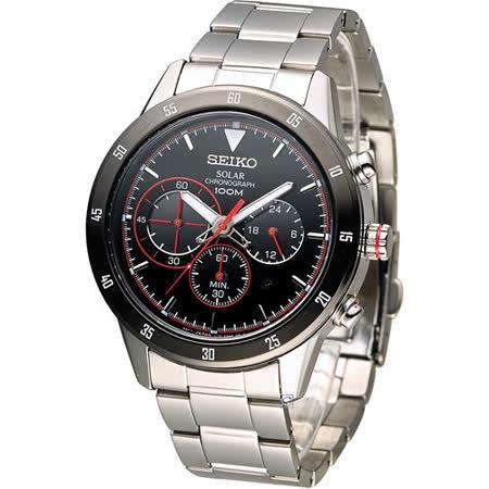 SEIKO Criteria 極速競賽太陽能計時腕錶 V175-0DA0R SSC329P1