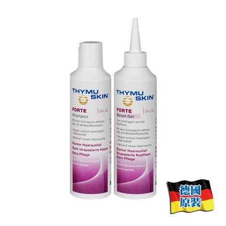 德國欣髮源 Thymuskin FORTE 強效養髮組 (洗髮精200ml+養髮凝膠200ml)