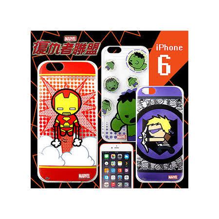 漫威 MARVEL 授權正版 復仇者聯盟 iPhone 6 4.7吋 Q版透明軟式保護套 手機殼(英雄款)