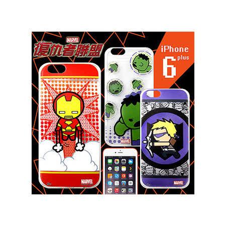 漫威 MARVEL 授權正版 復仇者聯盟 iPhone 6 plus 5.5吋 Q版透明軟式保護套 手機殼(英雄款)