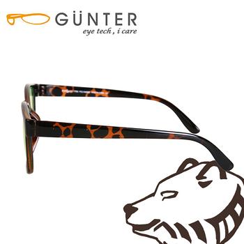 【GUNTER】室內濾藍光戶外抗UV變色眼鏡-極光熊(玳瑁)