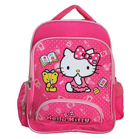 【HELLO KITTY-凱蒂貓】開心上學雙層書包(粉紅)