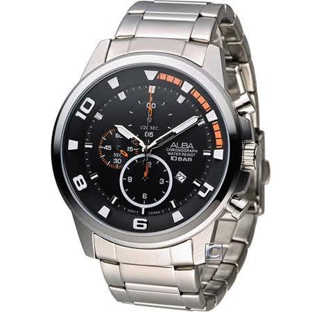 ALBA 雅柏 限量精裝潮流計時腕錶 YM92-X269D AF8U07X1