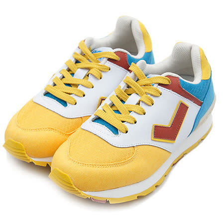 【PONY】 繽紛韓風復古慢跑鞋 SOLA-T 華麗復古系列 黃咖藍 52W1SO66EY 女