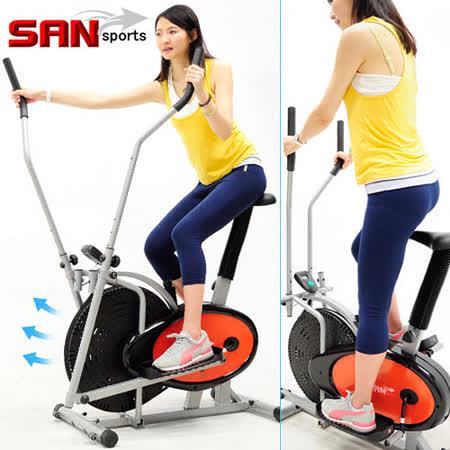 【SAN SPORTS】動感橢圓漫步機C179-602A(結合划船機+跑步機+手足健身車)交叉訓練機美腿機.橢圓機室內腳踏車.運動健身器材.推薦哪裡買