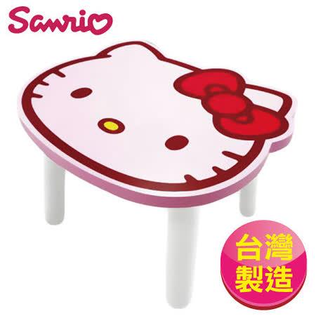 【Hello Kitty】台灣製凱蒂貓大頭造型矮凳椅子-粉色(SANRIO正版授權)