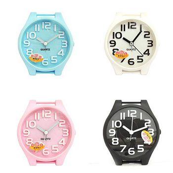 無敵王 糖果色手錶造型立體數字鬧鐘SV-1314 黑.白.粉紅.粉藍