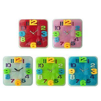 無敵王 糖果色立體數字方形鬧鐘SV-1317 紅.粉紅.粉藍.白.蘋果綠