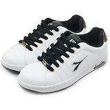 【男】 DIADORA 經典時尚潮流復古鞋 羅馬殿堂系列 白黑金 5758