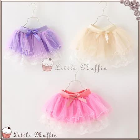 蓬蓬裙 夢幻多層紗蝴蝶結短裙 鬆緊帶 有內裡 多色 OTH043