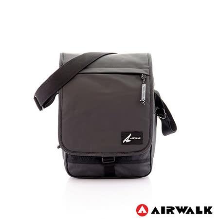 AIRWALK - 幸福時光 一片蓋肩斜二用小書包 - 簡約黑