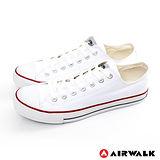 AIRWALK(男) - young.com 我的青春基本復刻款帆布鞋 - 不敗白