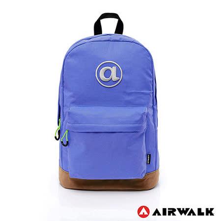 AIRWALK - 頑色糖果系列純色筆電後背包 - 深藍
