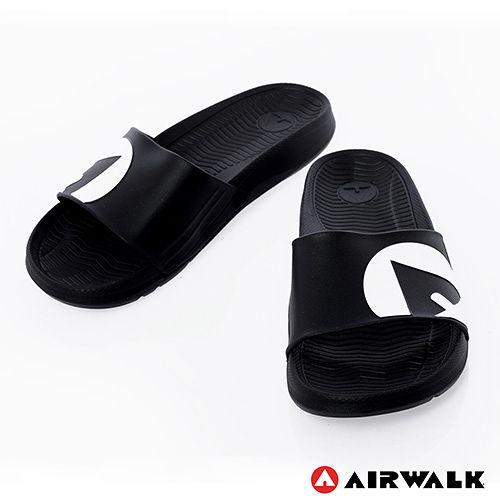 AIRWALK^(男^) ~ 輕盈舒適中性EVA休閒多 室內外拖鞋 ~ 黑