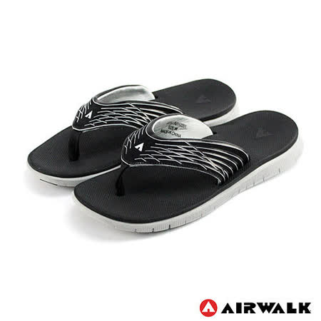 美國AIRWALK(男) - 發光體 性能強調彈力舒適夏日人字拖鞋 - 發亮灰
