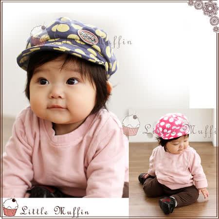 【Little Muffin小馬芬】韓版點點貓咪報童帽 2色