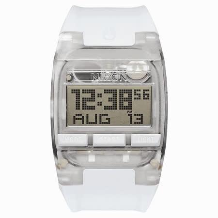 NIXON COMP 浪花海潮休閒運動電子錶-白x大