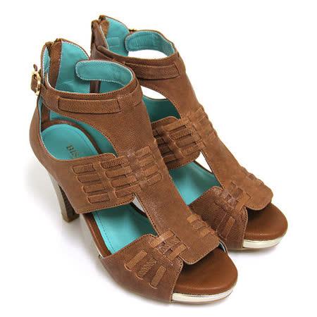 【GREEN PHOENIX 波兒德】BIS-VITAL絕世時尚義大利進口山羊皮高跟羅馬涼鞋