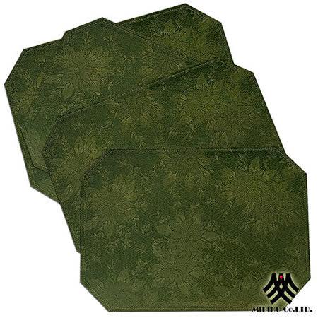 《M.B.H─聖誕葉子》緹花防潑水餐墊(綠)(6入)