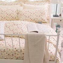 OLIVIA 《 玫瑰田園 》 加大雙人床包被套四件組