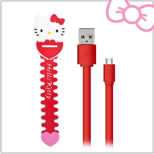 Hello Kitty 數位傳輸充電線 USB 2.0 紅 (KT-CB01RR)
