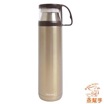 【蒸幫手 BRAISE HELPER】不鏽鋼創意隨身提手保冰保溫杯/瓶(450ml)