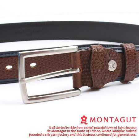 MONTAGUT夢特嬌-頭層牛皮 精品 針扣皮帶M551009