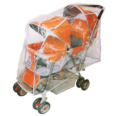 YIP-baby 開窗型雙人推車專用防風雨罩