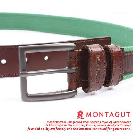 MONTAGUT夢特嬌-頭層牛皮 精品 針扣皮帶M551005