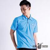【遊遍天下】男款抗UV吸濕排汗機能POLO衫NL020天藍