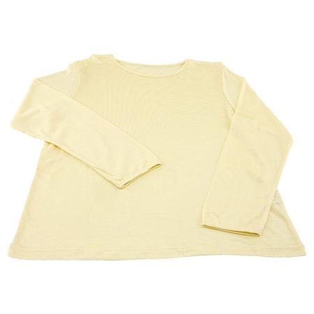 岱妮蠶絲 - (EZ3060S)兒童長袖衛生衣(鵝黃)